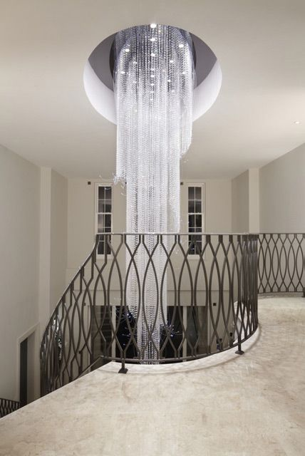 Crystal Chandelier produced for London based Property Developer, Consero Homes, for a new-build on the prestigious St. George's Hill Estate near Guildford