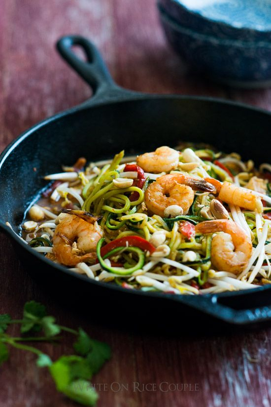 pad thai zucchini noodle recipe Noodles and Zoodles Zucchini Pasta THAI Recipe PAD Zucchini Recipe