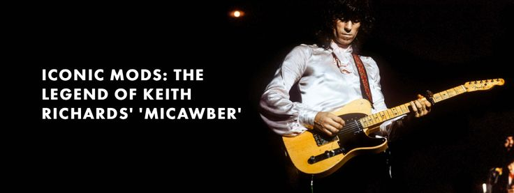 Iconic Mods: The Legend of Keith Richards' 'Micawber' — How a chance encounter with a '50s-eria Telecaster changed rock history.