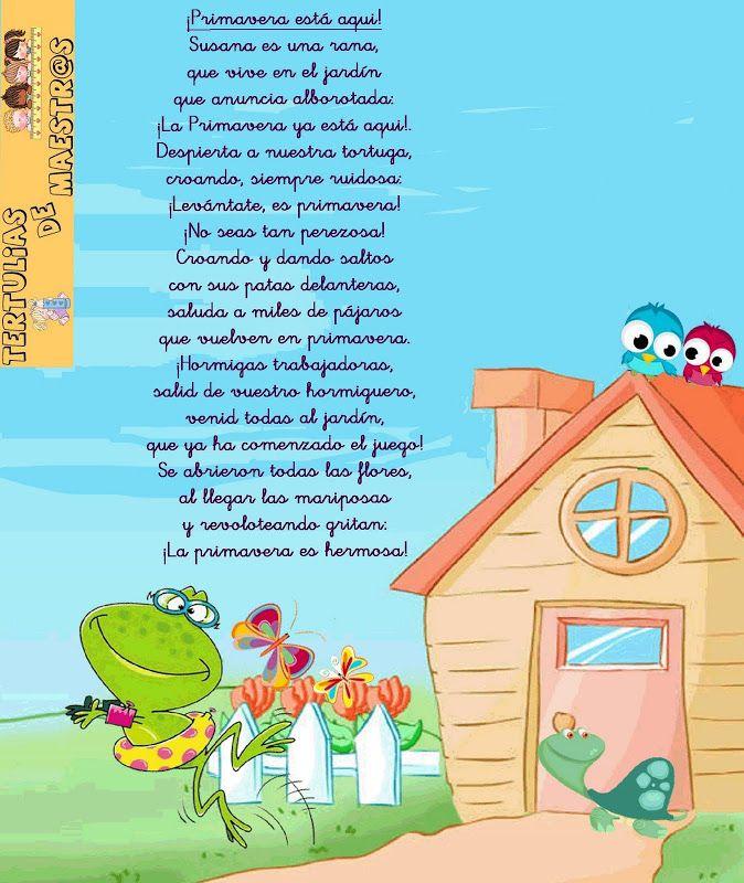 Poemas y rimas infantiles de la primavera para niños | Poemas, rimas ...