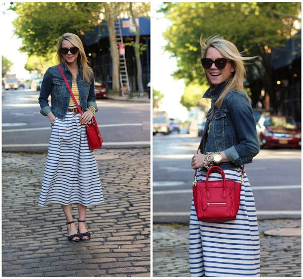 cute weekend look: Atlantic Pacific, Style, Skirts, Stripes, Atlanticpacific, Walk