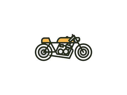 Simplistic cafe bike drawing