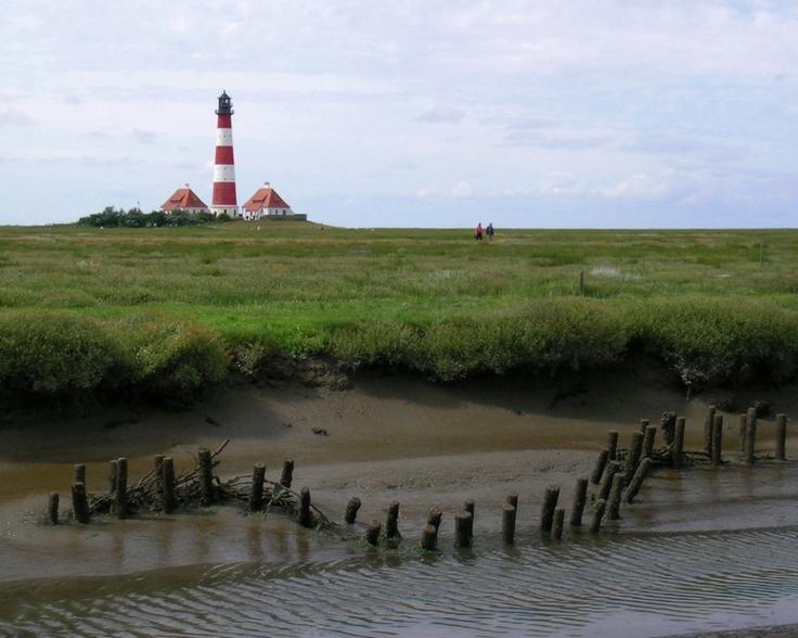 Westerheve, lighthouse (Schleswig-Holstein, Germany)