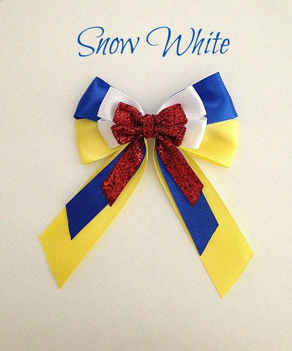 Disney inspired Snow White princess hair bow by BellaRayneDesigns