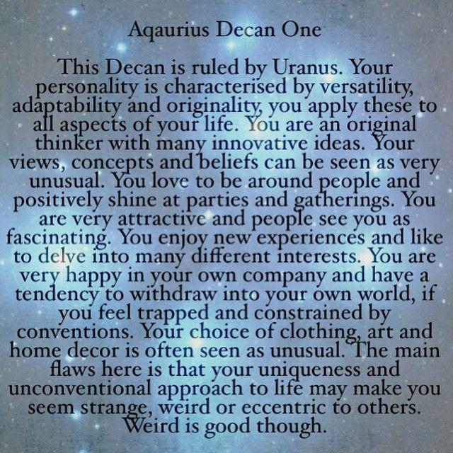 21st January - January 30th #aquarius #decans #astrology #badastrology #starsigns #zodiac