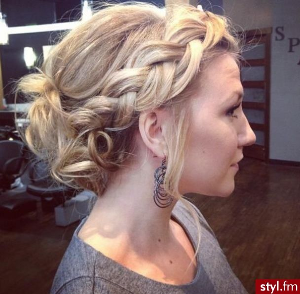 big braid and messy bun