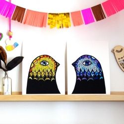 Yellow & Blue Bird Heads - Various Sizes | The Block Shop - Channel 9