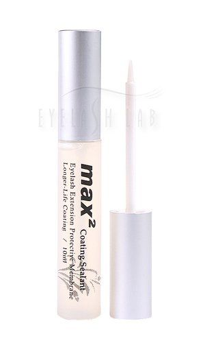 Eyelash Lab Max 2 Eyelash Extension Coating Sealant. Extends life of eyelash extensions; they usually last 50 to 100% longer with continued & proper use. Provides shine, appearance of thickness and lively look. Cut down on the costly touch-up sessions; Consider it a low cost home-care kit for your lashes. Perfect with Eyelash Lab's Specially Formulated Mascara for Extended Lashes. Invisible layer of sealant moisturizes otherwise dried coarse lashes and adds adhesion power. Made in and...