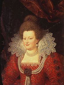 Maria de Medici by Frans Pourbus or Scipione Pulzone. Marie de' Medici (French: Marie de Médicis, Italian: Maria de' Medici; 26 April 1575 – 3 July 1642) was Queen of France as the second wife of King Henry IV of France.