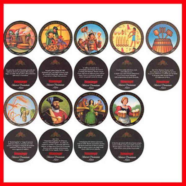 Coasters COLLEZIONE 9 SOTTOBICCHIERI GERMANIA STORIA BIRRA NUOVI HENNINGER KAISER STOCK