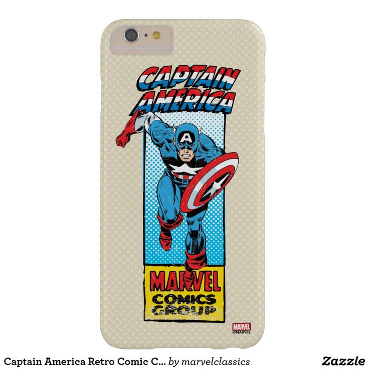 Captain America Retro Comic Character