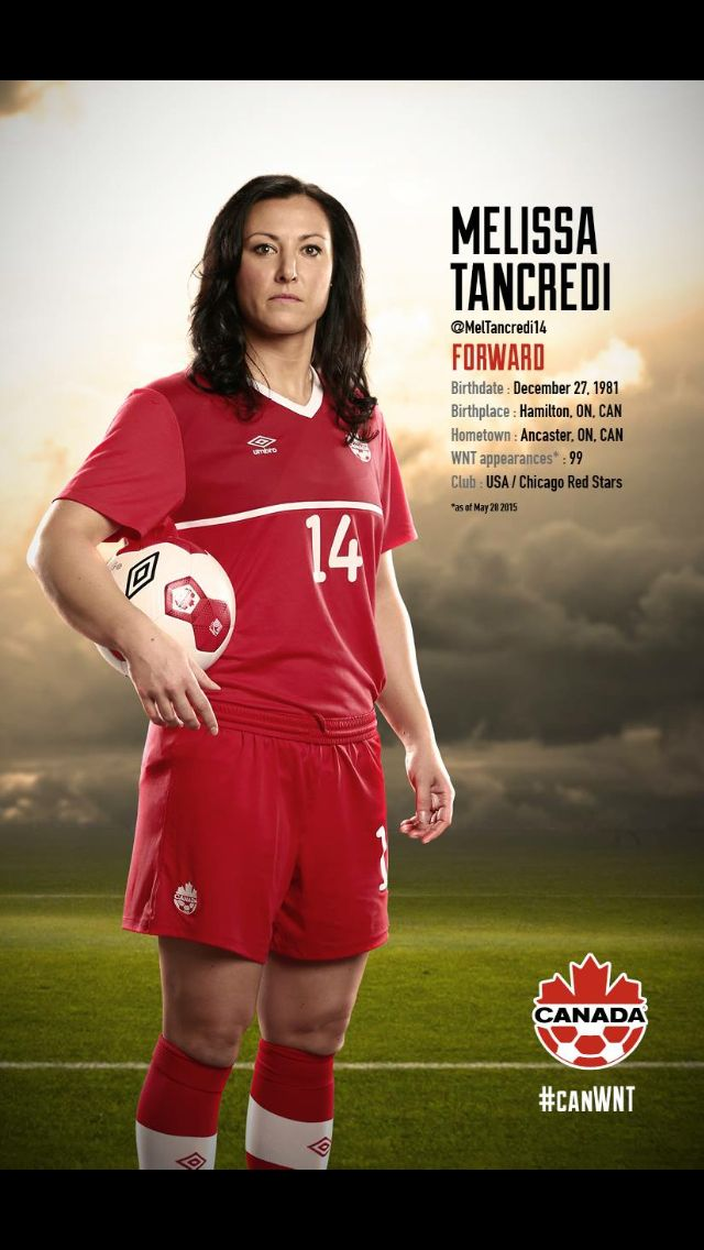#CanWNT | #FIFAWWC | #CanadaRED | Melissa Tancredi |
