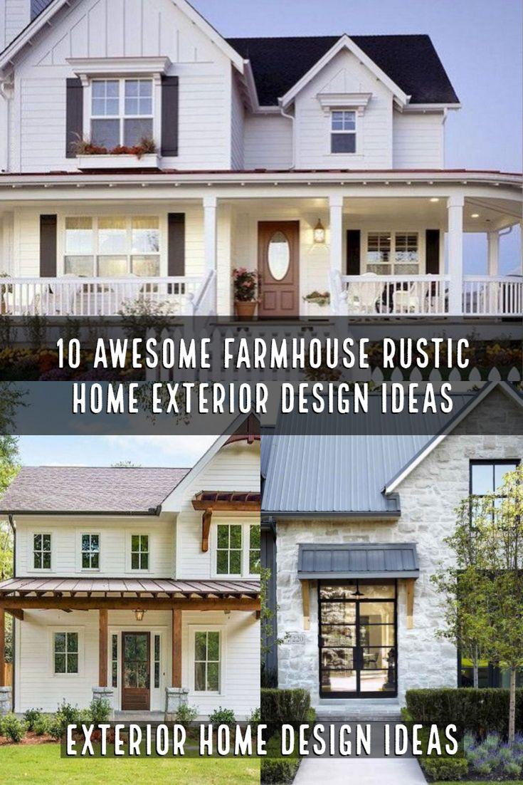 Awesome Farmhouse Rustic Home Exterior Design Ideas Rustic Houses Exterior House Exterior House Designs Exterior