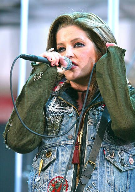 Lisa Marie Presley during 1027 KIIS FM's Wango Tango 2003 The Ultimate Reality Show at Rose Bowl Stadium in Pasadena California United States