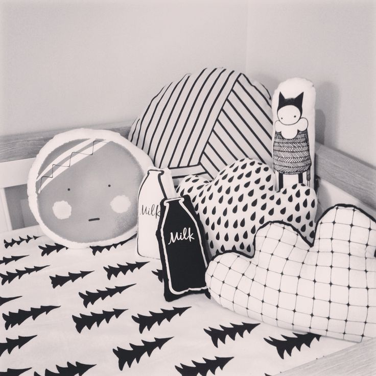 Adorable monochrome cushions available at @ivy_cabin  www.ivycabin.com