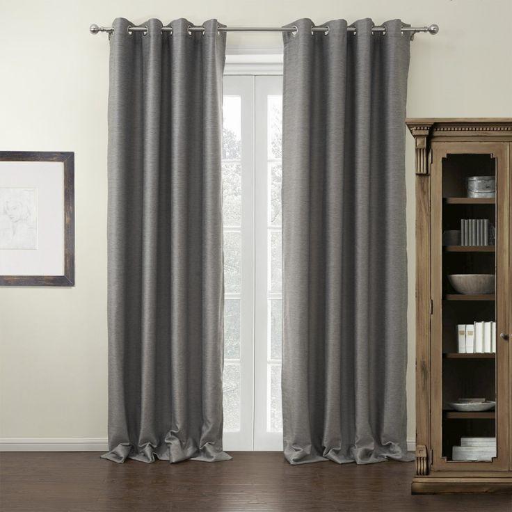 Solid Grey Modern Room Darkening Curtain  #curtains #decor #homedecor #homeinterior #grey