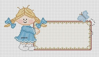Cute to cross stitch a name into....