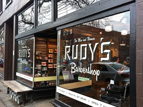 Rudy's Ballard Seattle Washington ~Love going in with friends when they need a trim.