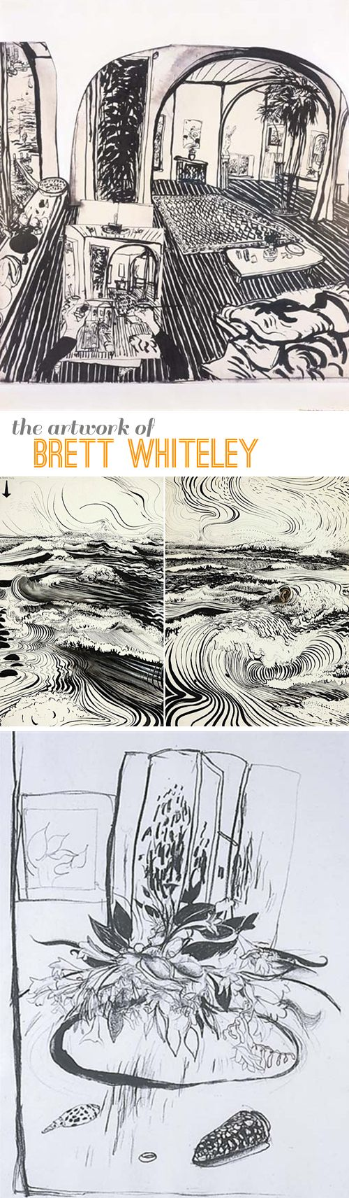 Brett Whiteley – bold lines make great drawings