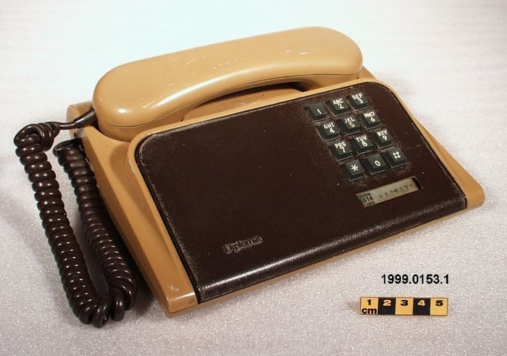 1981 Northern Telecom 'Diplomat' touch tone phone #HotlineBling #retro #vintage #brown #pink #pleather