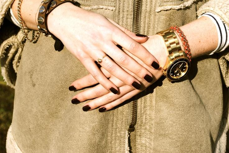 Bio-Sculpture nails no.10 Pinotage
