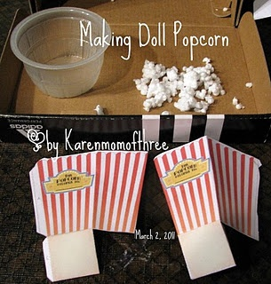 Make Popcorn for your American Girl doll