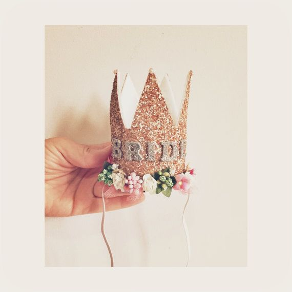 Rose Gold Bride to be Crown/Hens party by nashandwillow on Etsy