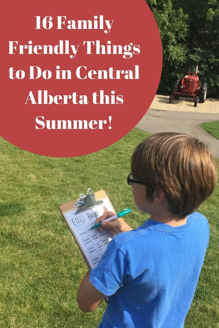 Wondering what to do this summer? Here are 16 Family Friendly things to do in Central Alberta this summer. Enjoy!