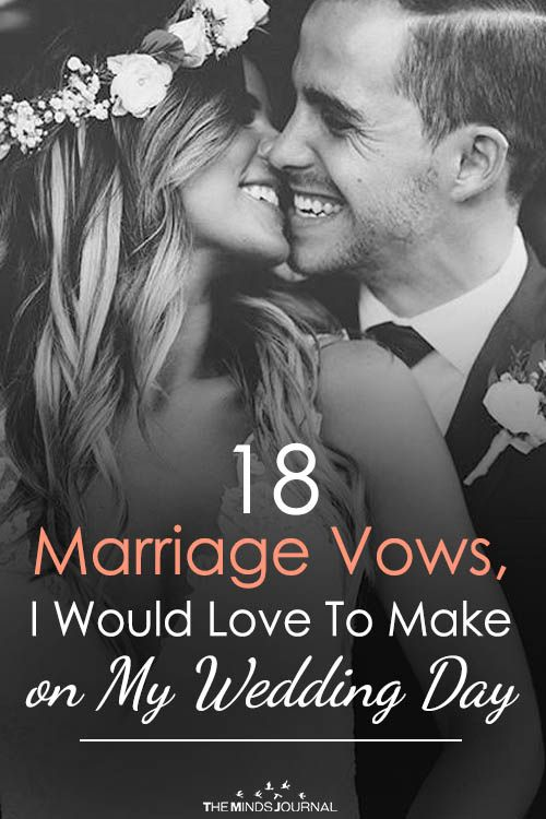 18 Marriage Vows, I Would Love To Make on My Marriage ceremony Day