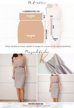Patrón para hacer este vestido de verano con tirantes anudados | Easy summer dress