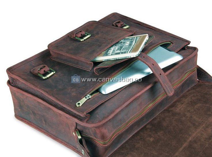 Laptop Messenger Bag Leather
