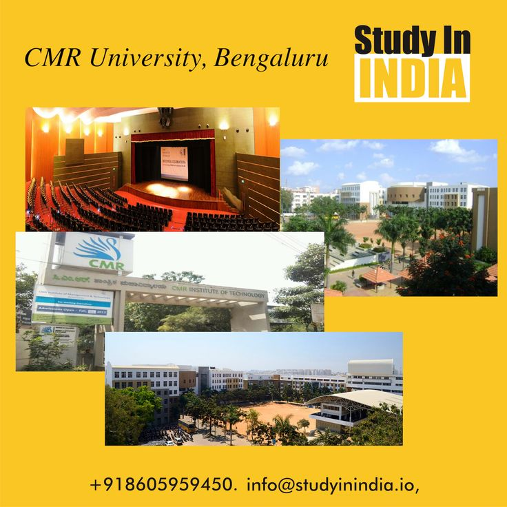 Study in one of the top-ranked private university of India. CMR University, Bangalore. #StudyinIndia #TopRanked #University in #India contact us on www.studyinindia.io for more information. #IndianUniversity #StudyAbroad