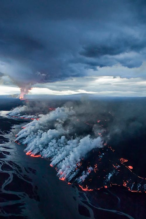 Volcano eruption in Iceland, September 2014 (by Greg Duncan)