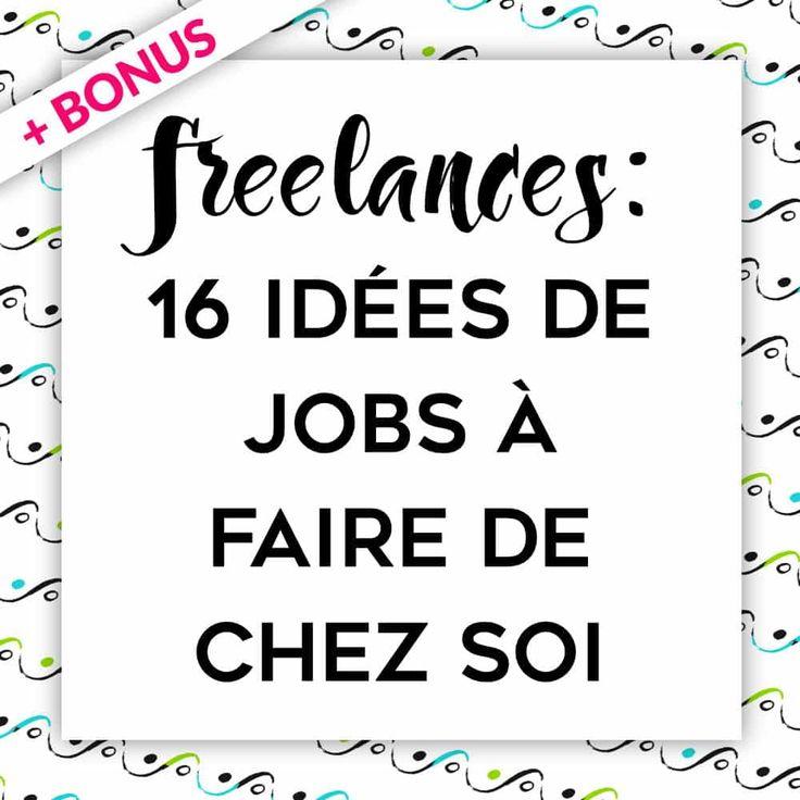 Vous souhaitez faire un travail à domicile ? Devenir Freelance ? Vous n'avez pas d'idées et vous pensez qu'il faut des compétences particulières ? Voici quelques idées