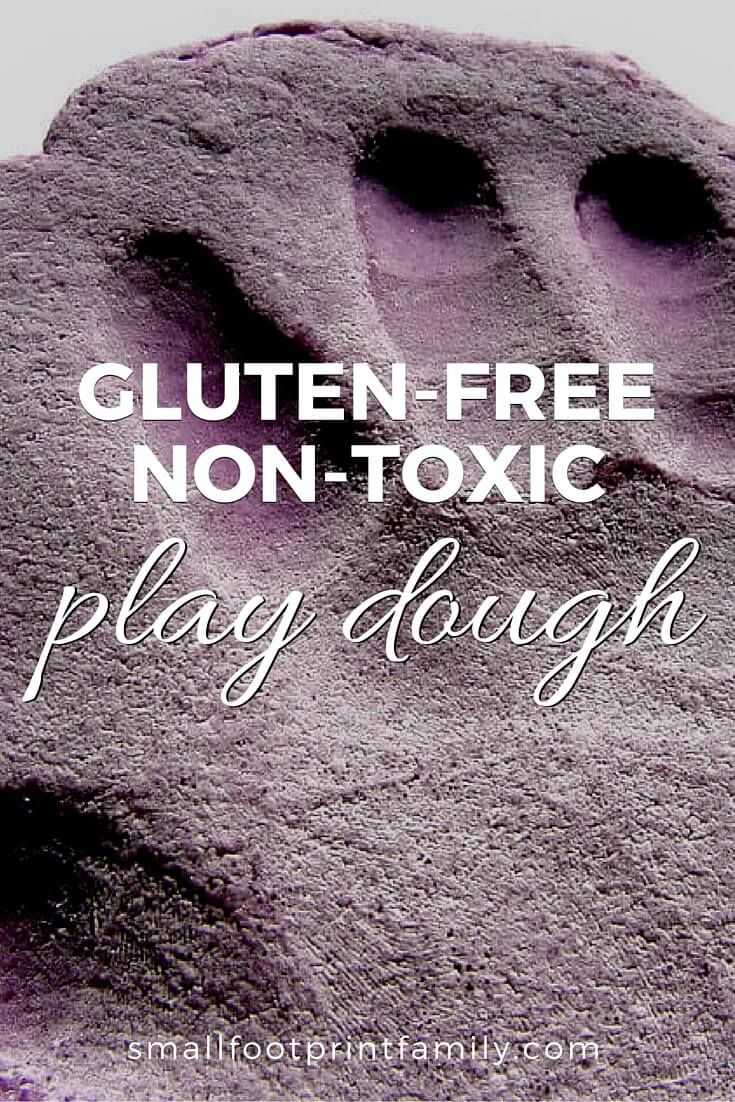 This gluten free play dough recipe is non-toxic and can provide hours of fun for the food sensitive child. Click to get the recipe!