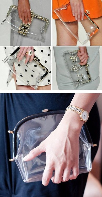 DIY Jenny Packham Inspired Clear Plastic Frame Bag Tutorial from...