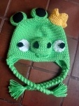 Because everyone loves Angry BirdsCrafts Ideas, Free Crochet, Crochet Hats, Pigs Hats, King Pigs, Hats Pattern, Angry Birds, Crochet Pattern, Birds Hats