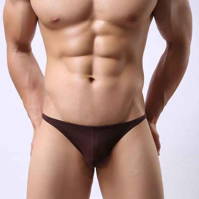2017 New men's low-waist briefs cotton breathable sexy gay men underwear u convex design brave underpants men hot sale wholesale