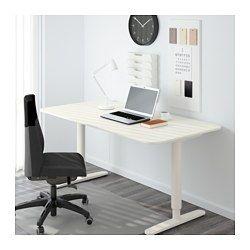 BEKANT Desk sit/stand, white - 160x80 cm - IKEA