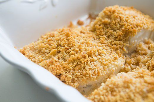 Baked Cod with Ritz Cracker Topping ~ Baked white fish, such as cod ...