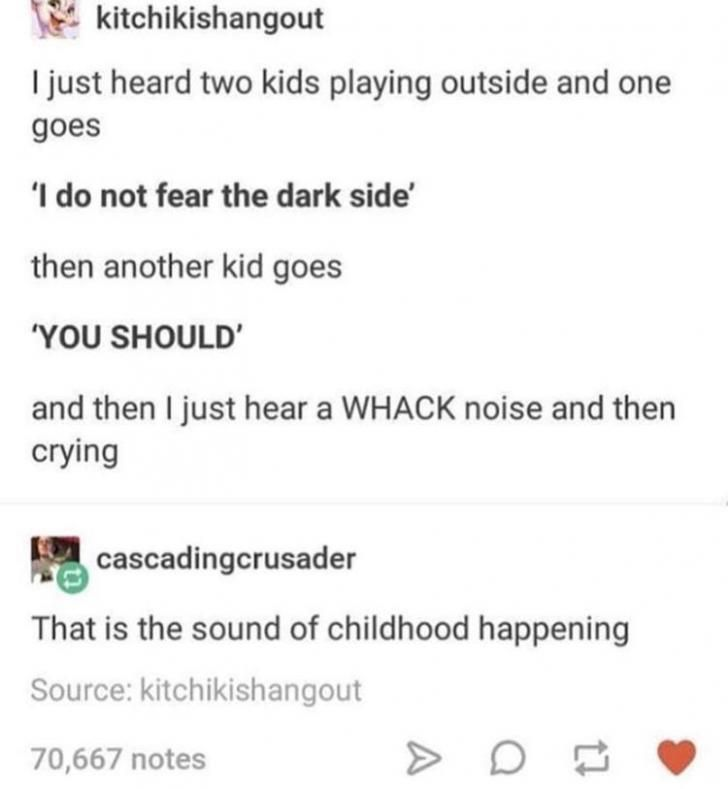 The sounds of childhood