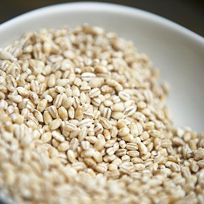 Pearl barley -   This starchy side makes a slimming complement to a low-cal meal by adding some satisfying fiber and nearly 2 grams of Resistant Starch in just a half-cup serving.
