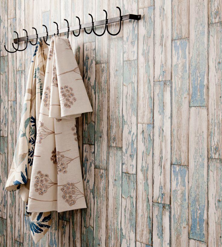 Rustic Living | Peeling Planks Wallpaper by Clarke & Clarke | Jane Clayton