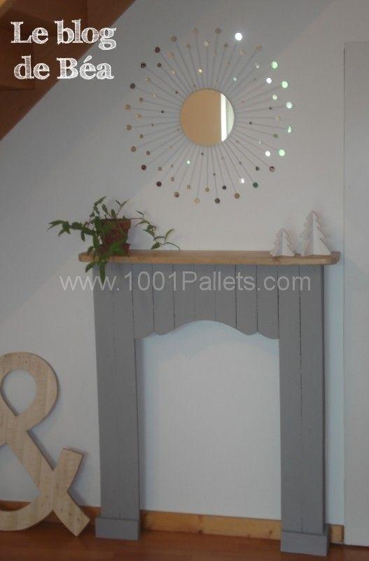 Decorative Fireplace From Pallet Wood / Fausse Cheminée En Bois De Palette  U2022 Pallet Ideas