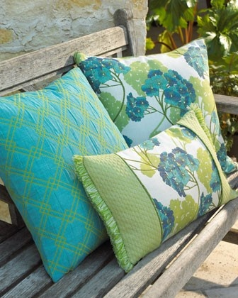 outdoor pillows - pretty colors