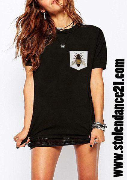 Bee Real Pocket Tee Crew Neck Top T shirt code50870