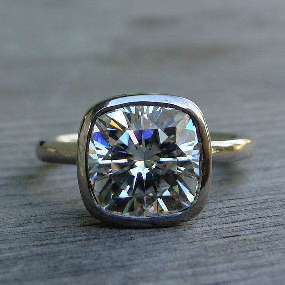 Eco-Friendly Three 3 Carat Engagement Ring by McFarlandDesigns