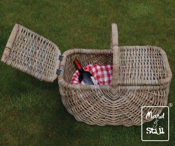 Picknickmand rond toelopend (56x34x45cm) | Picknickmanden | Mand & Stijl
