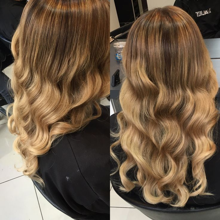 Soft blonde highlights and curls by Babyliss Pro Curl