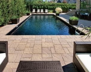 Swimming Pool Paving Stones - Swimming Pool Landscaping ideas